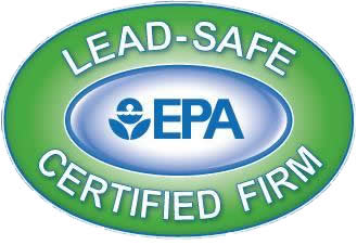 logo:   lead-safe certified firm with EPA logo in the center.